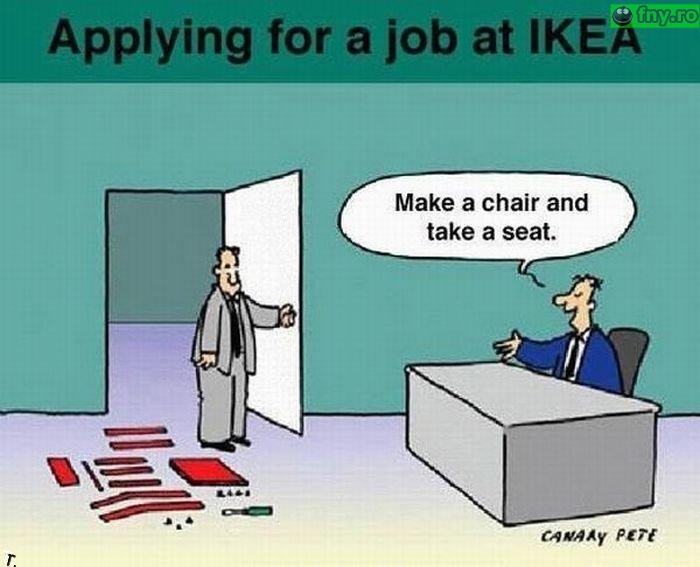 Interviu pt IKEA imagini haioase