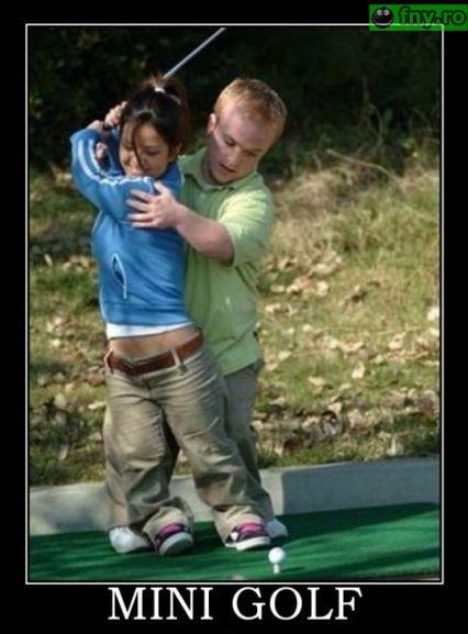 Mini golf imagini haioase