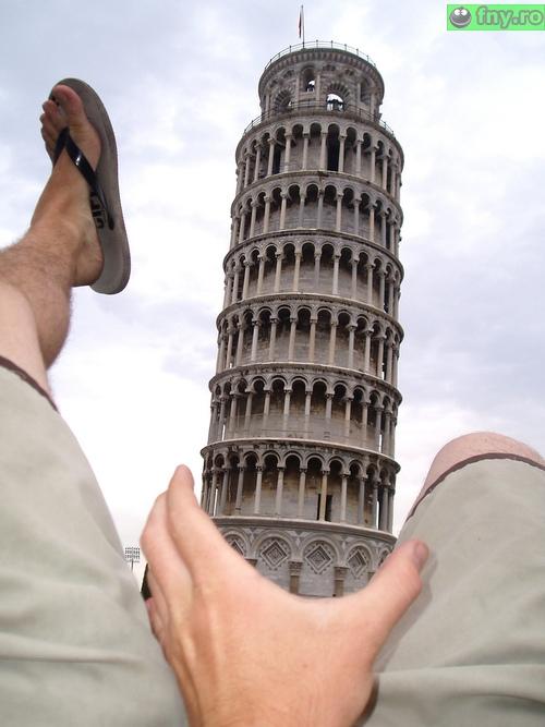 O poza adevarata de la Pisa imagini haioase