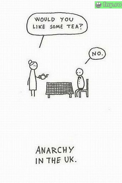 Anarhie in UK imagini haioase