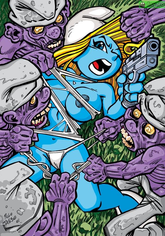 Strumfi zombie imagini haioase