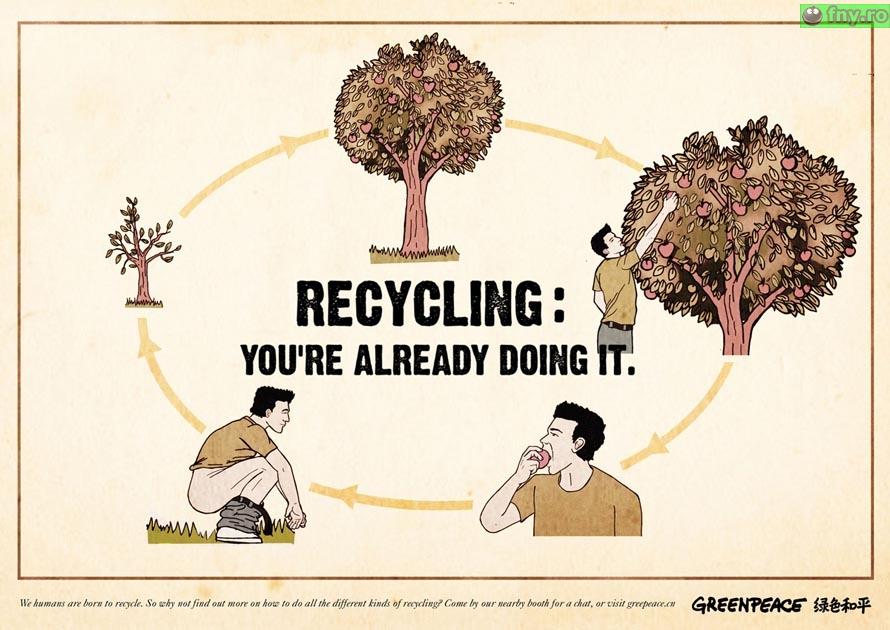 Adevarata reciclare imagini haioase
