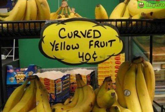 Fructe galbene curbate imagini haioase