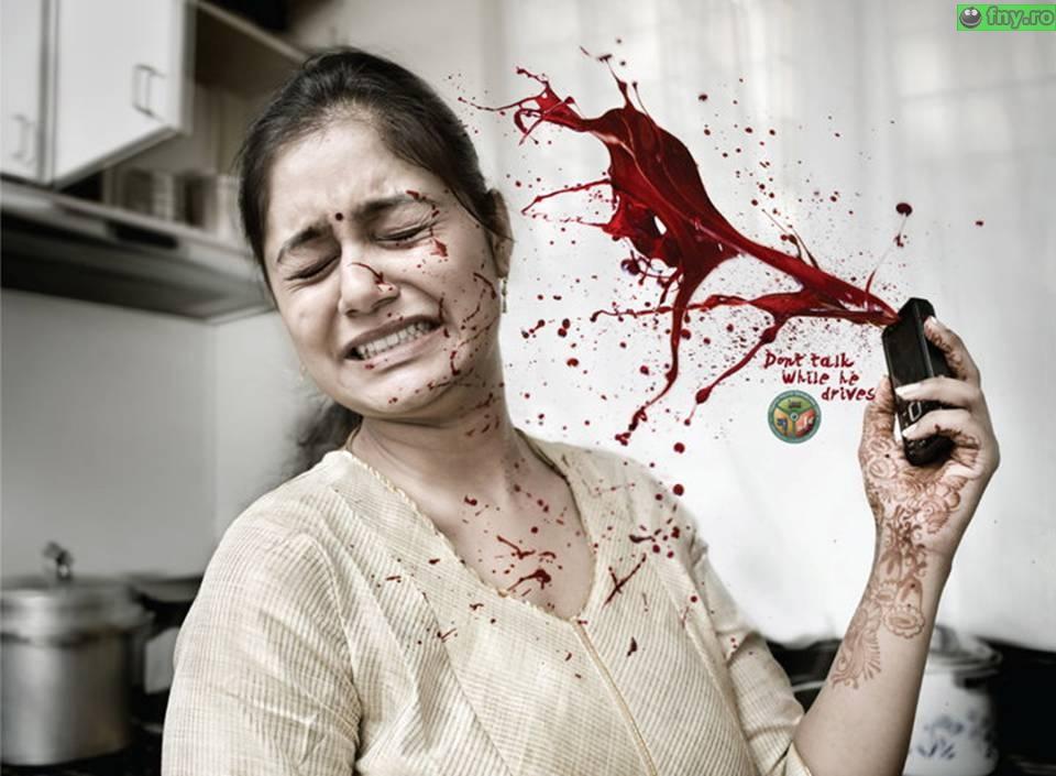 Nu vorbiti la telefon cand conduceti imagini haioase