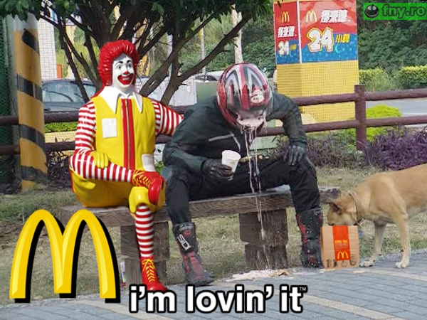 Mancarea McDonalds imagini haioase