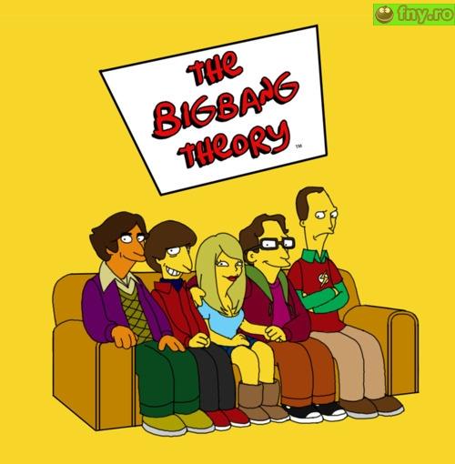 The big bang theory - varianta futurama imagini haioase