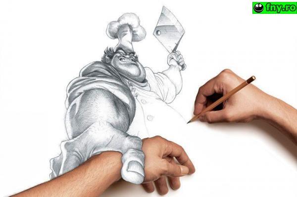 Talent la desen 2 imagini haioase