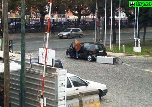 Femeie la volan imagini haioase